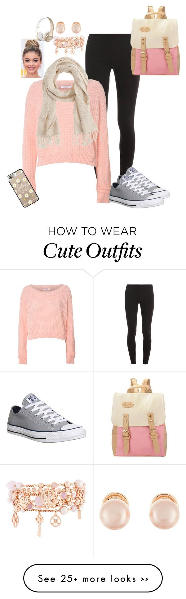 """""""Fall Outfit"""" by savyone2000 on Polyvore featuring Splendid, Glamorous, Converse, J.Crew, Kenneth Jay Lane, Casetify and Henri Bendel"""