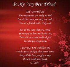 My Best Friend Poems Friendship   To my very best friend photo Tomyverybestfriend.jpg