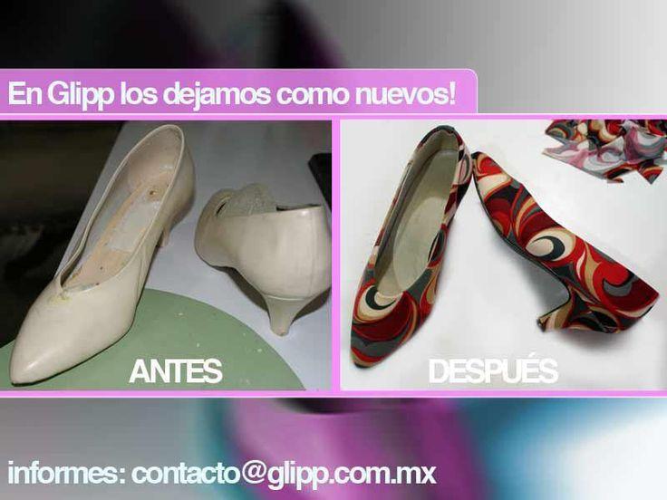 EnGlipppersonalizamos tus zapatos. Tú eliges la tela y nosotros los forramos. Dale una segunda oportunidad a tus zapatos usados. Sólo tienes que elegir la tela de tu predilección, la cual puede s…