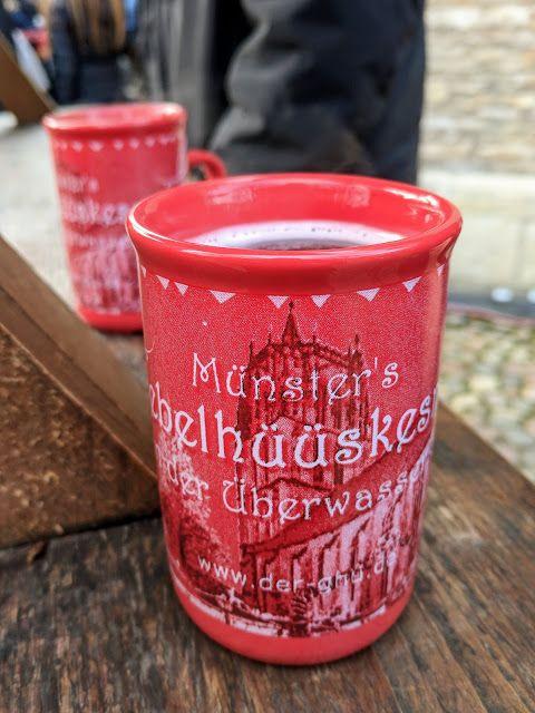 Christmas mug at the Münster Christmas Market in North Rhine-Westphalia Germany
