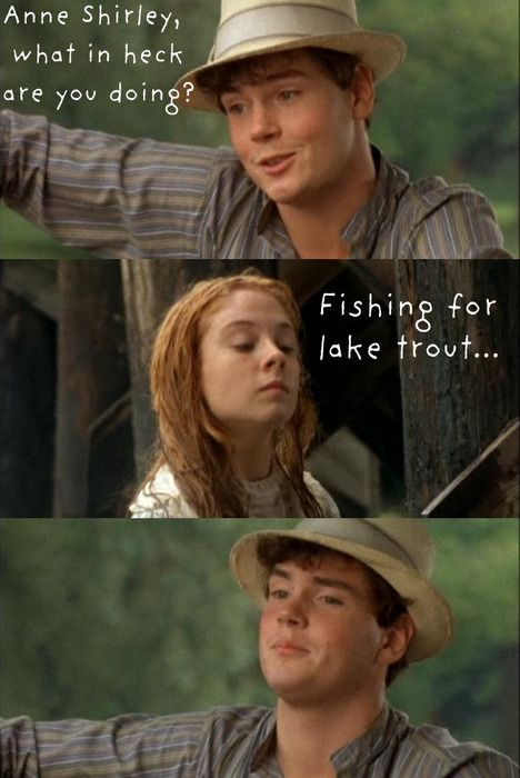 While reenacting The Lady of Shalott with her friends, Anne's boat sinks and Gilbert comes to the rescue.    heelsoverheadoverheels:  (via babytheleopard)
