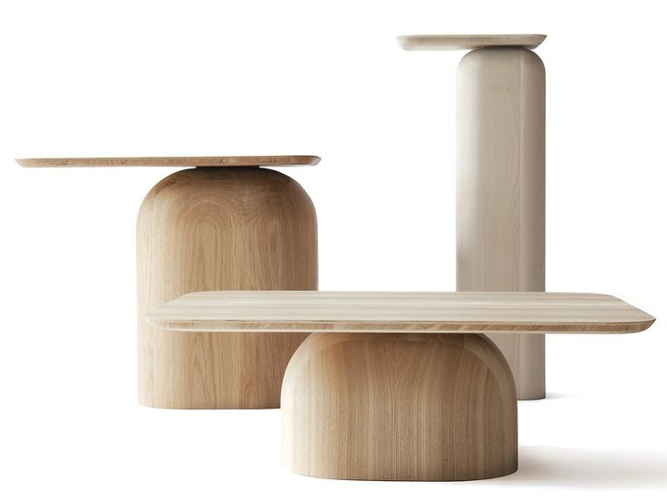 Low rectangular #wooden coffee #table APRIL 12 DESIGNS FOR NATURE Collection by Nikari | #design Alfredo Häberli