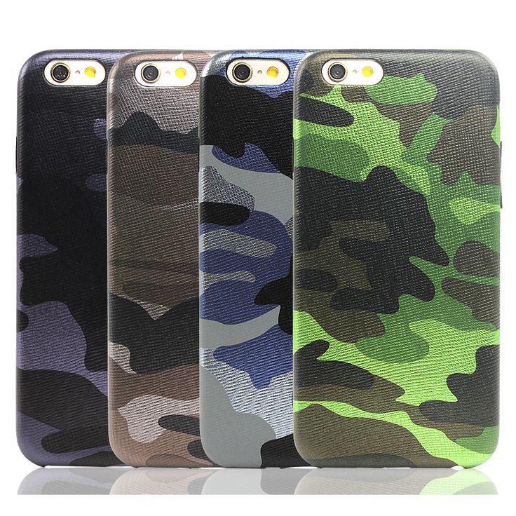 Nuevo camuflaje del ejército de camo de cuero caso de la contraportada para iphone 7 6 6 s plus 5S sí fundas luxucy caja del teléfono para iphone 6 plus Capa