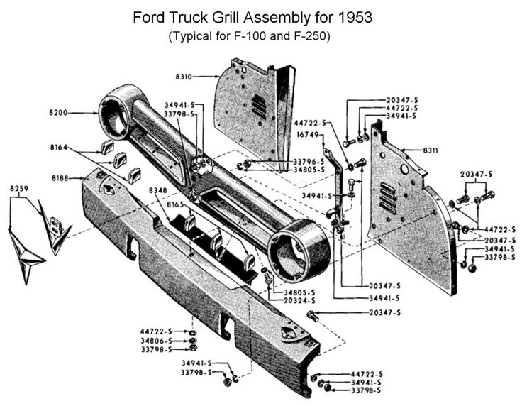1955 ford f100 grill
