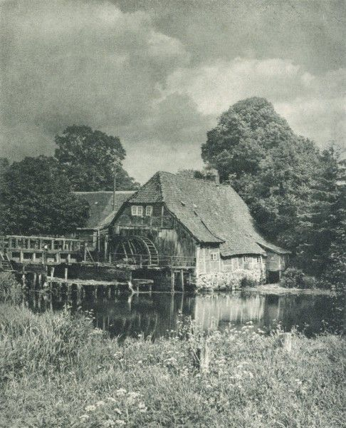 Alte Mühle R. Köhnen Germany Photogravure Die Kunst in der Photographie 1908 AtelierMeisenbach, Riffarth & Co. Year1908