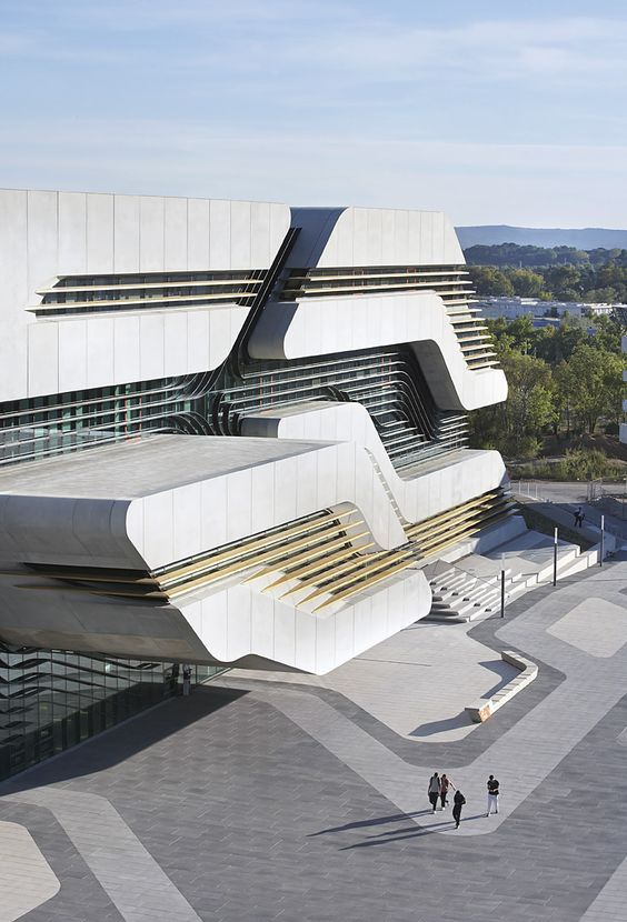 Pierres Vives Library & Sports Department Building in Montpellier, France By Zaha Hadid Architects: