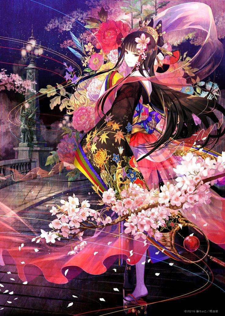 SAKURA - JAPAN IN THE BOX-  明治座 Illustrator: Fuzichoco #SAKURA #明治座