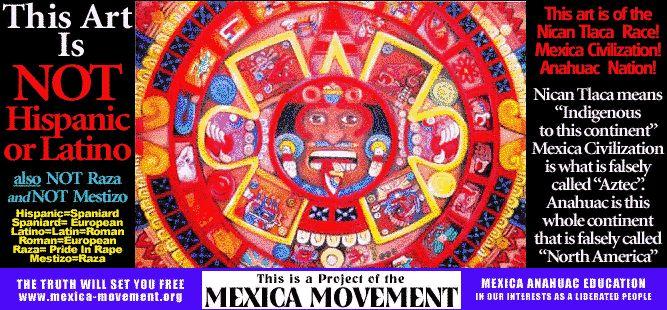 Mexica Movement: Nahuatl names, Aztec names, Mexica names