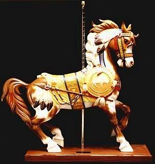Joe Leonard original, Indian Pony carousel horse. perfect.