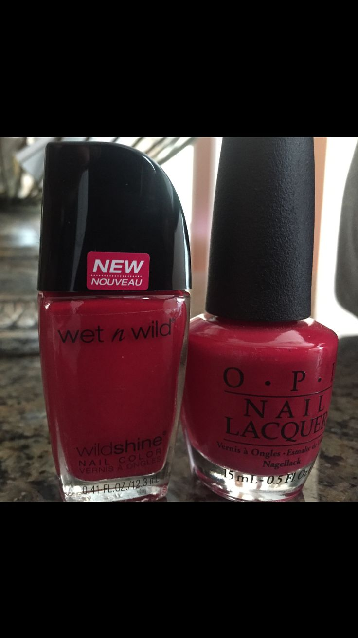 "Wet N Wild ""Red Red"" perfect dupe for OPI ""Dutch Tulips"" (found at Walmart for .97cents vs. $8.50 )"