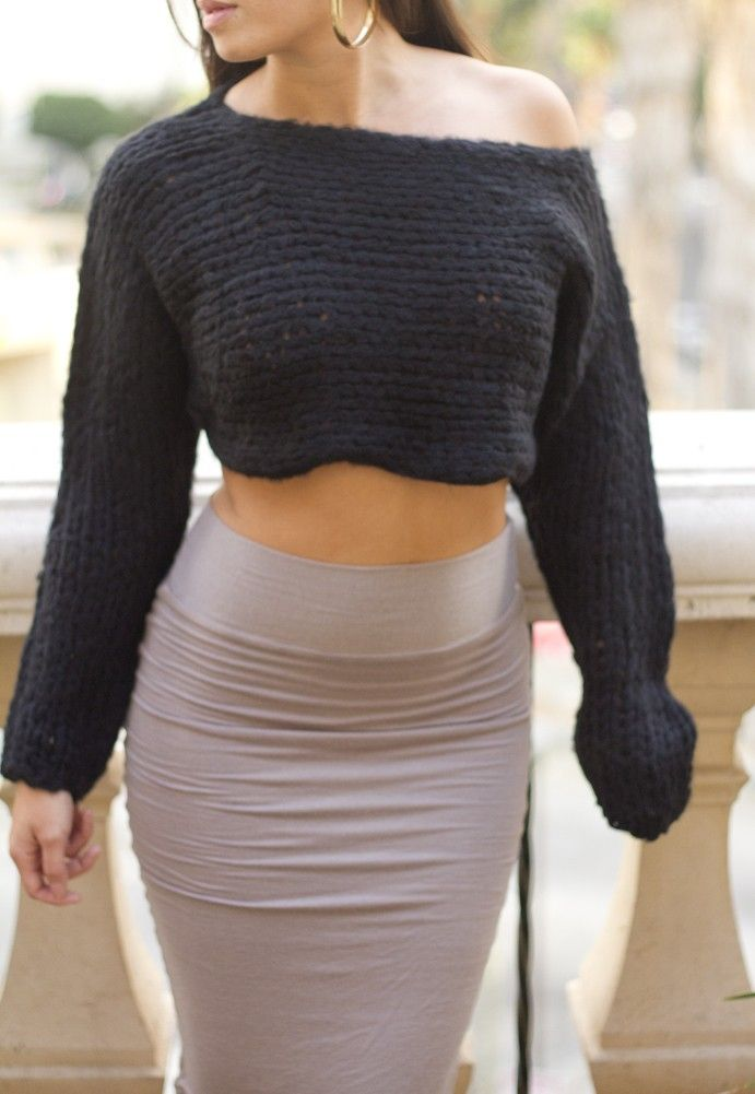 Knitting Pattern Cropped Jumper : 1000+ images about Sweaters on Pinterest The shoulder, Search and Knits