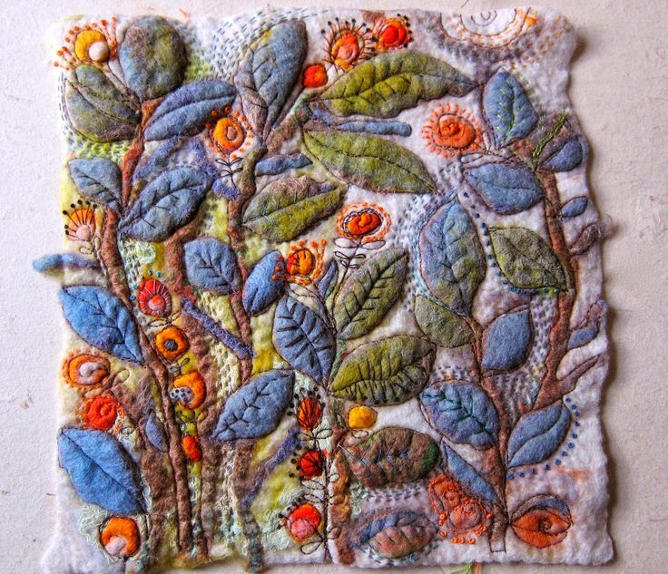 """""""Dog-Daisy Chains"""". New felted piece by Kirsten Chursinoff. A very talented lady."""
