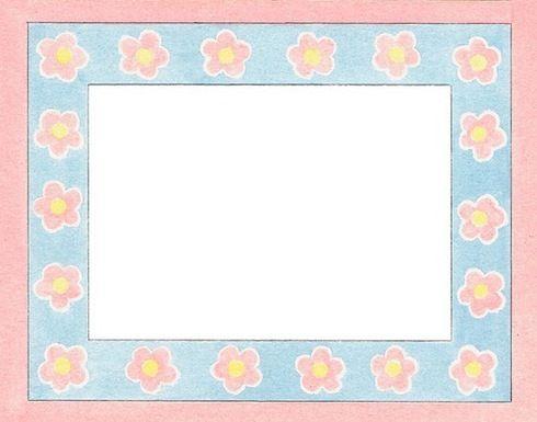 Marcos con flores para imprimir-Imagenes y dibujos para imprimir