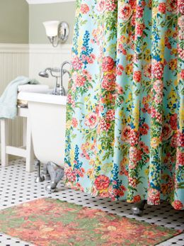 Cotton Shower Curtain From April Cornell With Floral Designs Home Sweet Home Pinterest