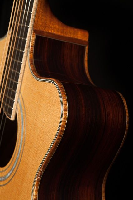 Custom Acoustic Guitar, Cocobolo Alchemist Guitar, Lichty Guitars