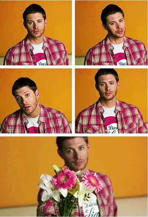 Here's a gif set of Jensen giving you flowers. You're freaking welcome.