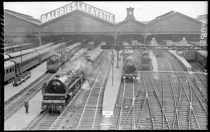 Paris 1930 gare saint lazare paris les gares pinterest paris - Restaurant gare saint lazare ...