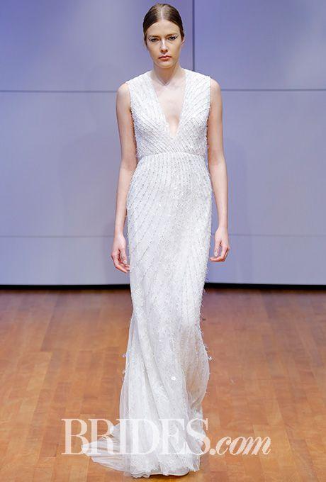 Chantilly lace beaded sheath wedding dress Rivini by Rita Vinieris Wedding Dress - Fall 2016 - Brides.com