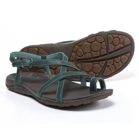 3435d6fb8a82 Chaco Dorra Leather Sandals (For Women) in Teal