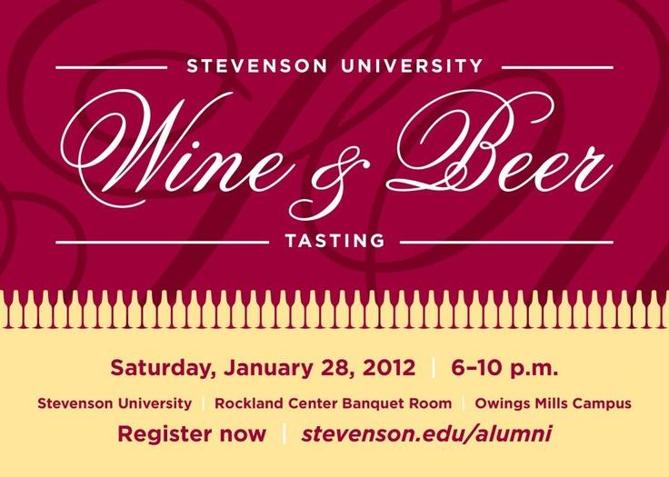 33 best design cards invitations images on pinterest invitation to 2012 alumni wine beer tasting stopboris Choice Image