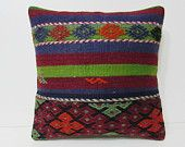 20x20 kilim pillow 20x20 20 inch pillow cover big pillow case large pillow kilim large boho pillow 50x50 cushion cover blue rug pillow 25116