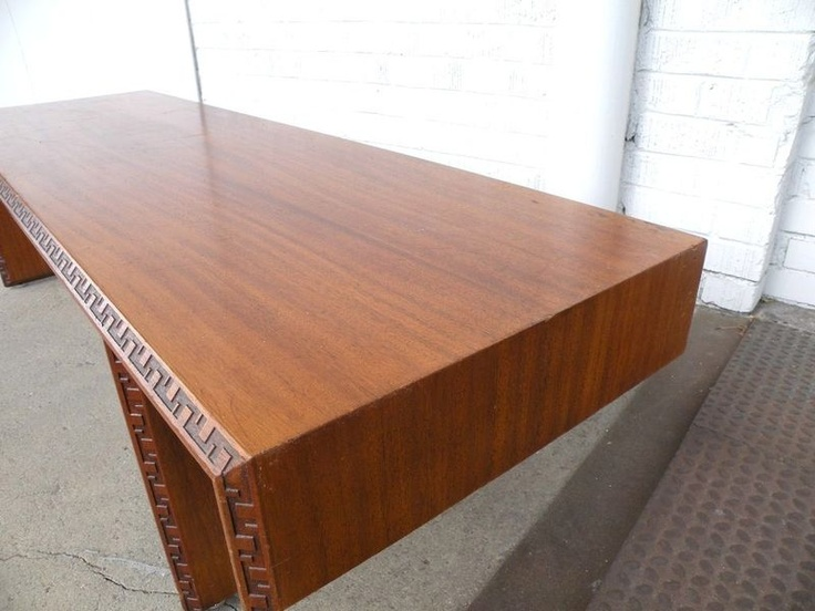 Rare 1950s Frank Lloyd Wright Heritage Henredon Cocktail Coffee Table Midcentury Cocktails