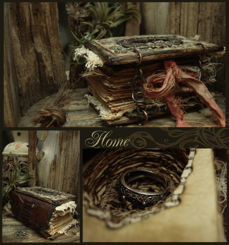 handmade altered journals by altered alchemy.  Exquisite and very cleverly done, if only I was so clever....