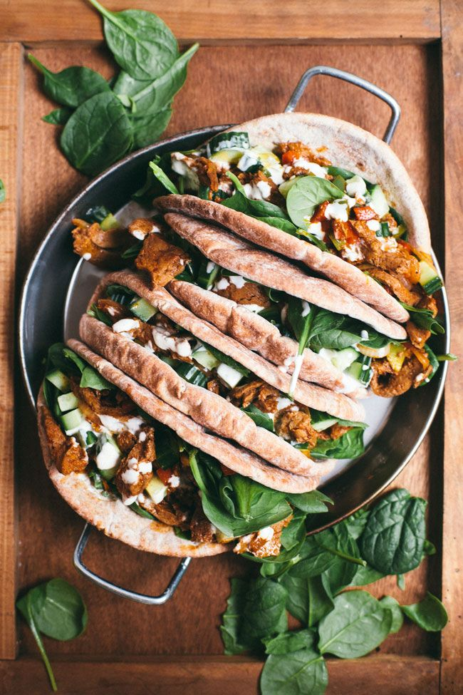 Make a Meatless Gyro Wrap with seitan in just 25 minutes! It's a great way to lighten up your weeknight dinner or work lunch.
