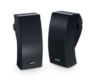 Try the Bose 251 environmental speakers. Our wall-mount outside speakers allow you to enjoy full, rich stereo sound over a wide outdoor listening area.