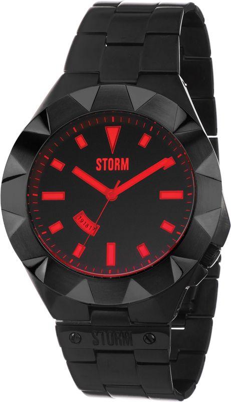 Storm London Different Mizzan XL 47233-SL, Storm London Slate & Red Quartz Watch with Date