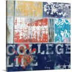 "Photo of """"College Life Mini""""by David Fischer Canvas Wall Art, Multi-Color – Products"