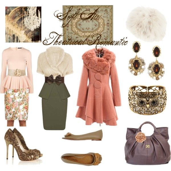 """Soft Autumn Theatrical Romantic"" by thewildpapillon on Polyvore"