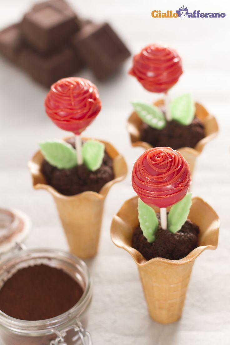 Un bouquet di CAKE POPS ROSELLINE (rose cake pops) che sorprende! #ricetta #GialloZafferano #cakepops #italianrecipe