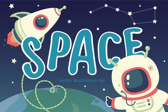 Space vector set by SunnyWS on @creativemarket