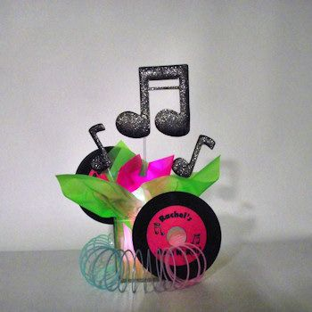 Rocku0026 Fifties Centerpiece   Personalized With A Lighted Base.