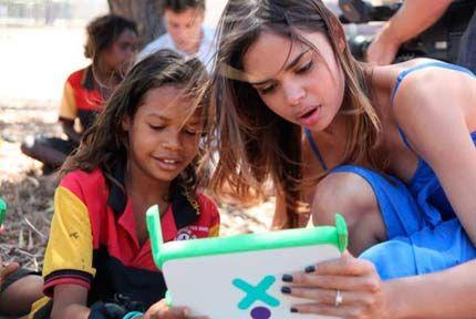Samantha Harris as ambassador for One Laptop per Child Australia