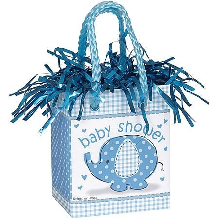 Blue Elephant Baby Shower Balloon Weight