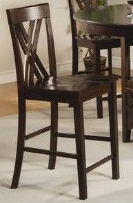 """Sahara Chairs Features: Espresso Finish Double X-back Stools Measures 21"""" x 18"""" x 41"""""""