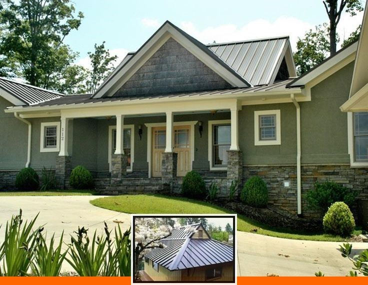 Metal Roof Copper Colors And Abc Metal Roofing Colors In 2020 Metal Roof Houses House Paint Exterior Exterior House Paint Color Combinations