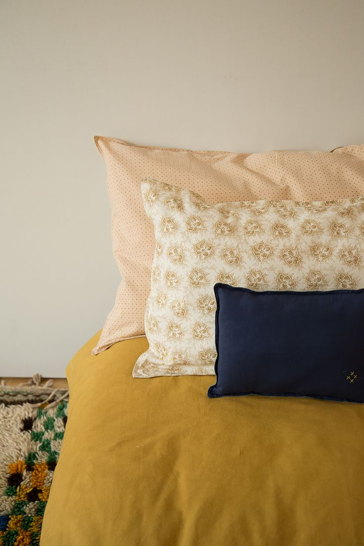 Delicate pattern and bold colours are a great combination. All by Camomile london