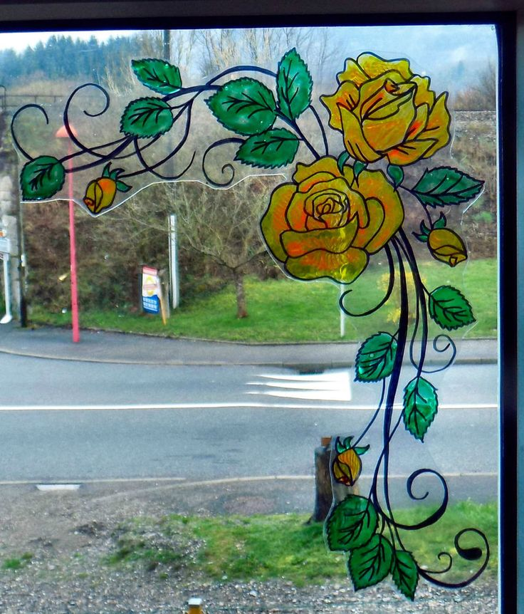 Wicoart Window Color Sticker Cling Faux Stained Glass