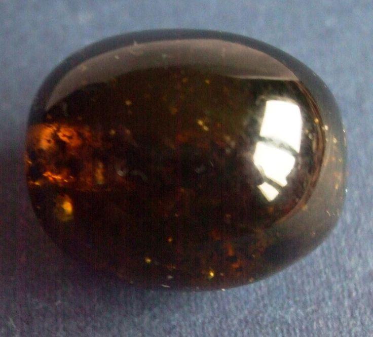 Baltic Amber 7 gr Oval Natural Genuine Polished black huge large bead piece 老琥珀