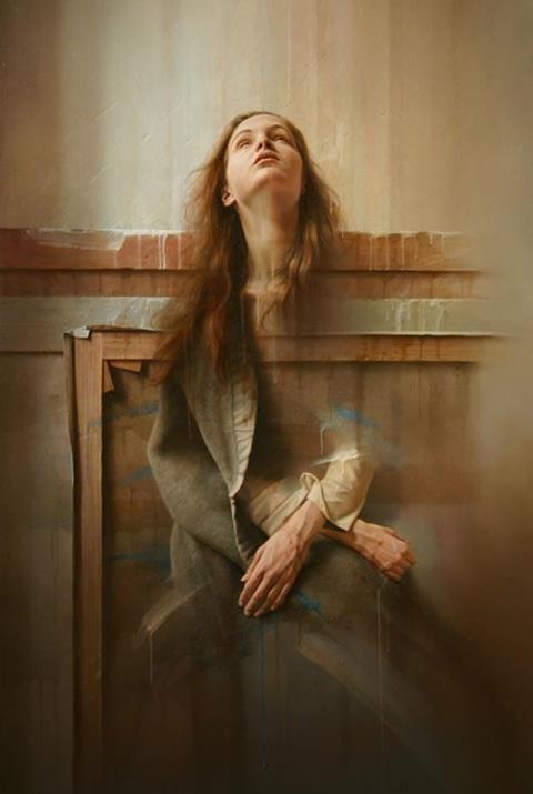 Istvan Sandorfi (1948 - 2007) Hungarian hyperrealist painter. S)
