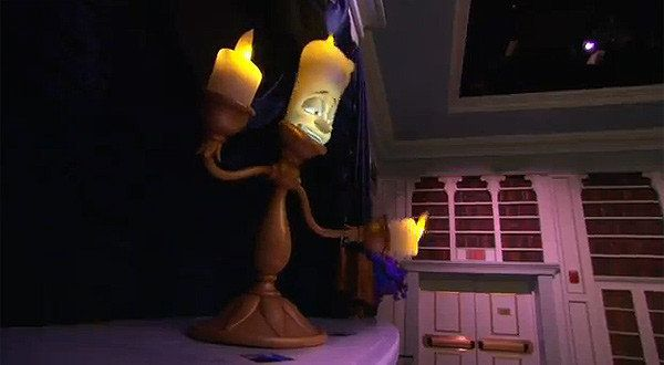 Lumiere at Belles Cottage for Enchanted tales with Belle