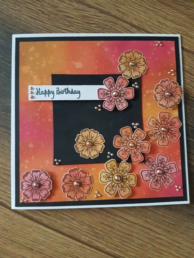 Handmade card using Craftwork Cards Stamp It II stamps, reveal it's and distress backgrounds by Mary Gillingham