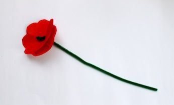 Make A Red  Poppy | Paper Flowers | Paper Craft | Kids Activities