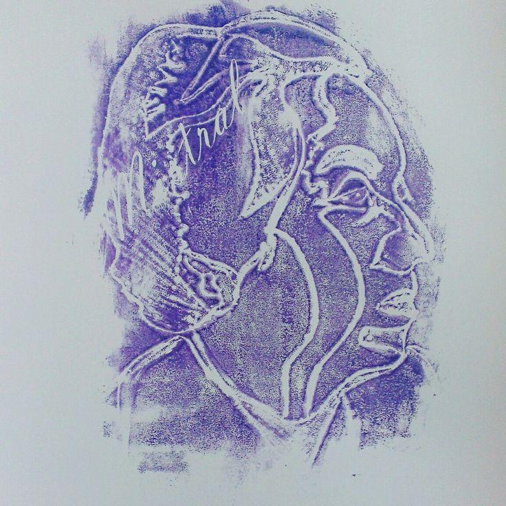 Timbre hecho a mano de Gabriela Mistral. Ishua Castro