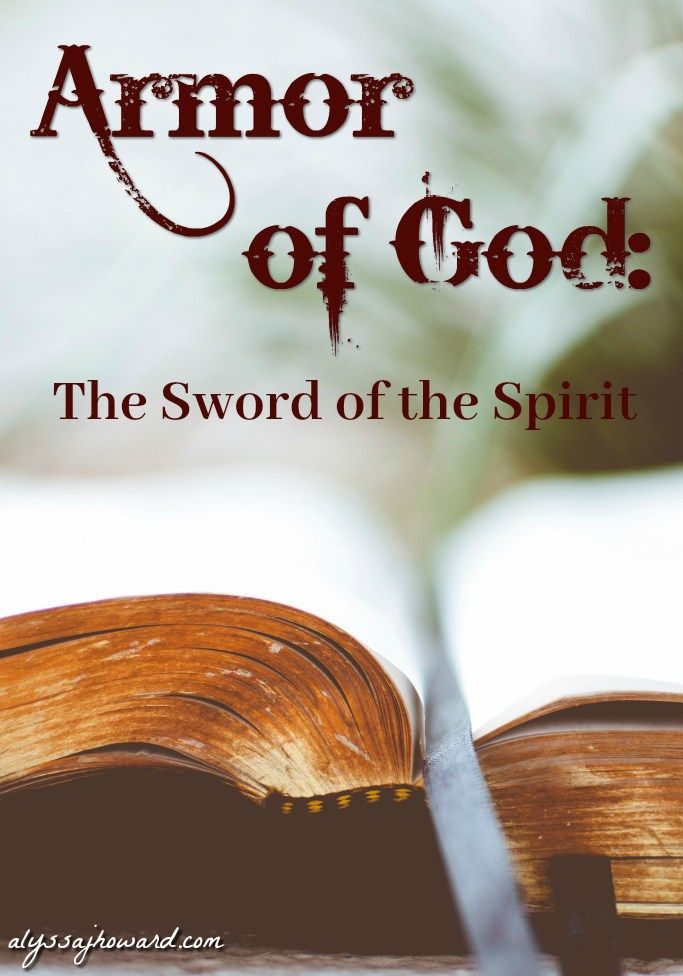 At first glance, the armor of God is all about defense. We do, however, have one offensive weapon – the sword of the Spirit. The Word of God is our sword – our only offensive weapon against the enemy.