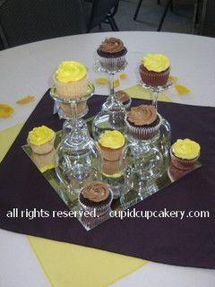 Wedding Cupcake Centerpieces