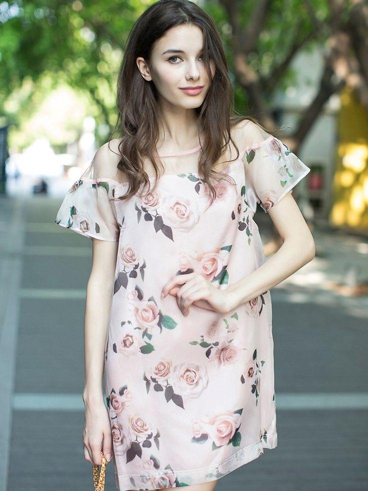 Pink Dress,Floral Dress,Fashion,Dress